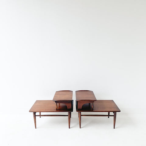 Pair of Bassett Step Tables
