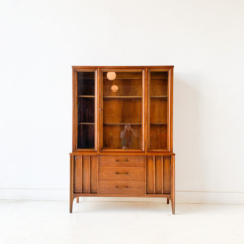 Mid Century Modern Sculpted Front Hutch