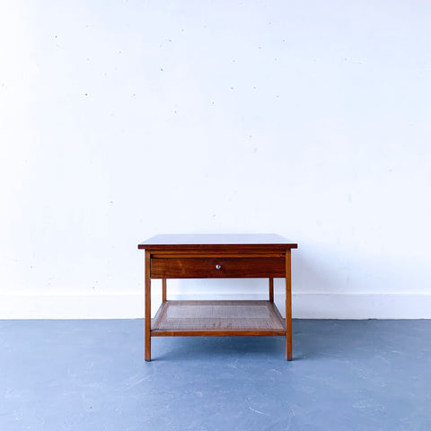 Lane End Table with Cane Shelf