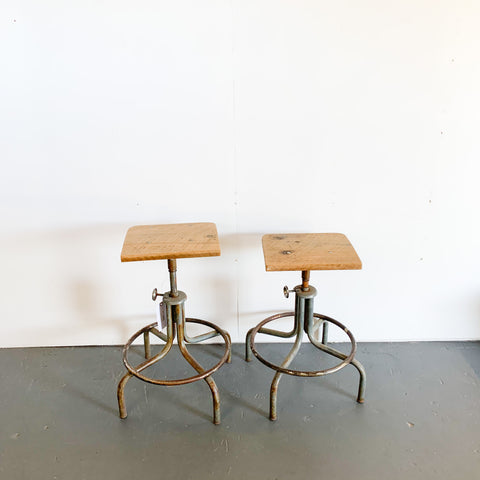 Industrial Set of Stools