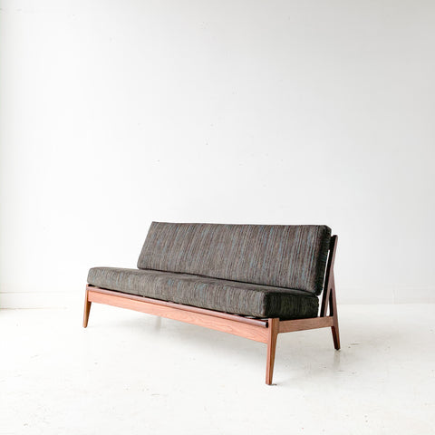 Mid Century Modern Royal Danish Sofa with New Upholstery