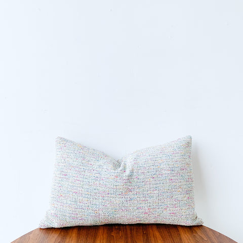 Rainbow/White Lumbar Pillow