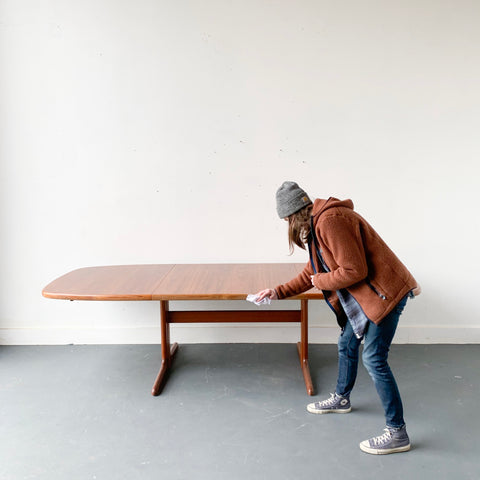 Danish Teak Dining Table by Skovby