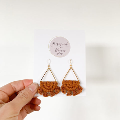 Macrame Earrings - Maple