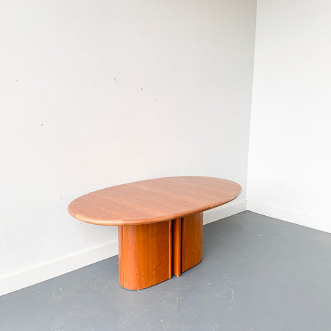 Mid Century Cherry Dining Table with Pop Up Leaf by Skovby