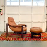 Mid Century Modern Lounge Chair and Ottoman by Percival Lafer