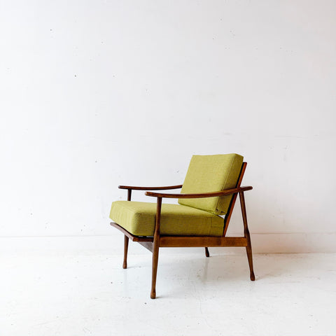 Mid Century Lounge Chair with New Upholstery - Made in Italy