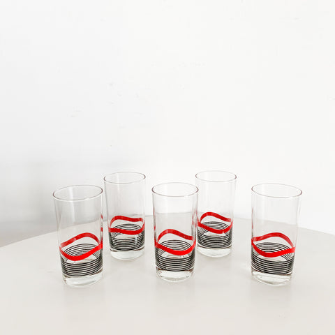 Graphic High Balls Set of 5