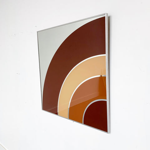 70s Space Age Art Mirror