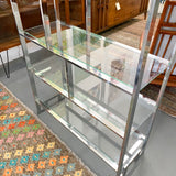 Vintage Chrome and Glass Shelf
