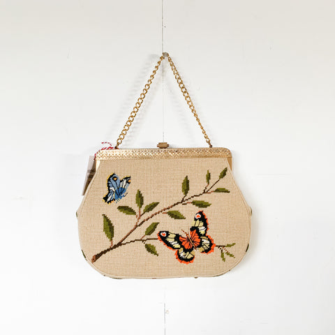 1950s Erik needlepoint purse