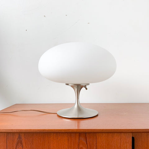 Mid Century Modern Laurel Tulip Lamp with Mushroom Glass Top