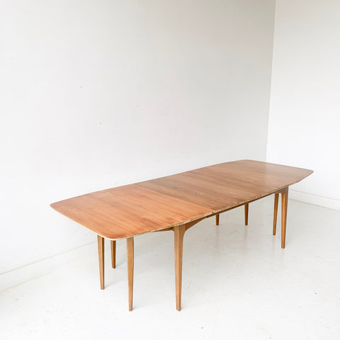 Mid Century Modern Drexel Profile Dining Table with 3 Leaves