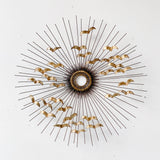 Mid Century Modern Sunburst Metal Art by C. Jere