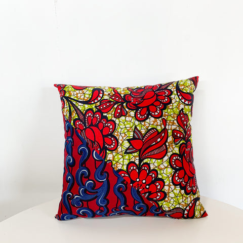 "JF12 18"" African Fabric Throw Pillow"