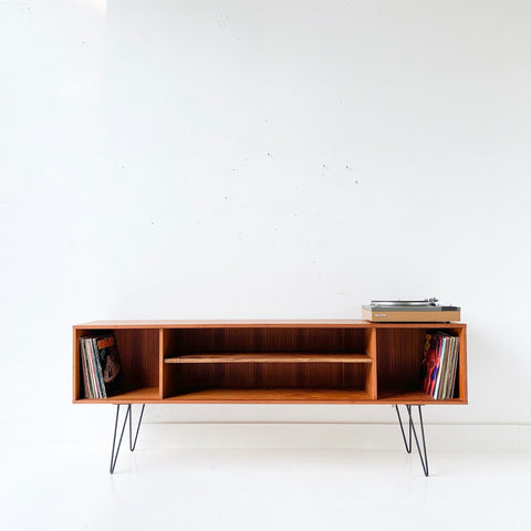 Danish Teak Media Center on Hairpin Legs