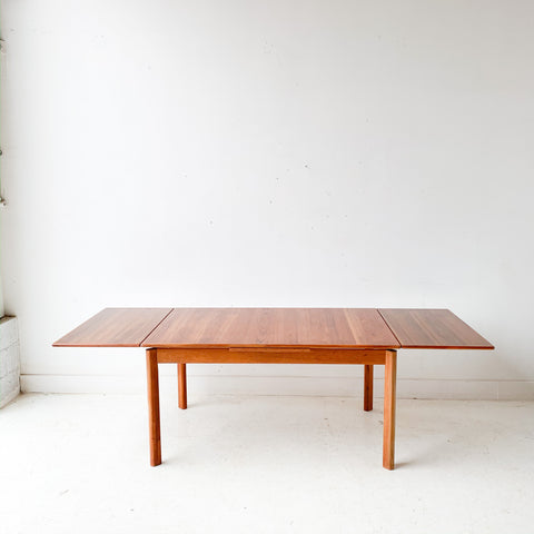 Mid Century Modern Danish Teak Expandable Dining Table