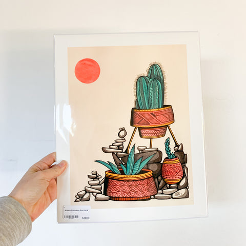 Arizona Succulents Print - 11x14