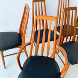 Set of 8 Koefoed Hornslet Dining Chairs with New Upholstery