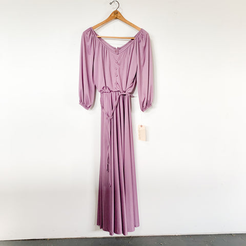 Purple Maxi Dress - S -