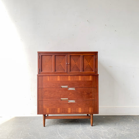 Mid Century Modern American of Martinsville Highboy Dresser