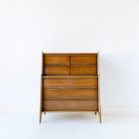 Mid Century Modern United Highboy Dresser