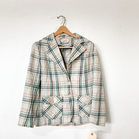 Jonathan Logan Plaid Blazer - S