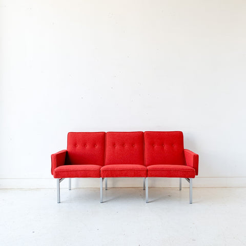 Mid Century Sofa with Aluminum Base - New Upholstery