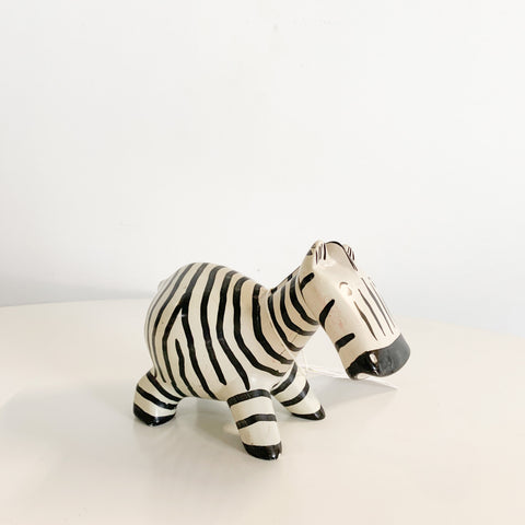 Hand Carved Stone Hand Painted Zebra