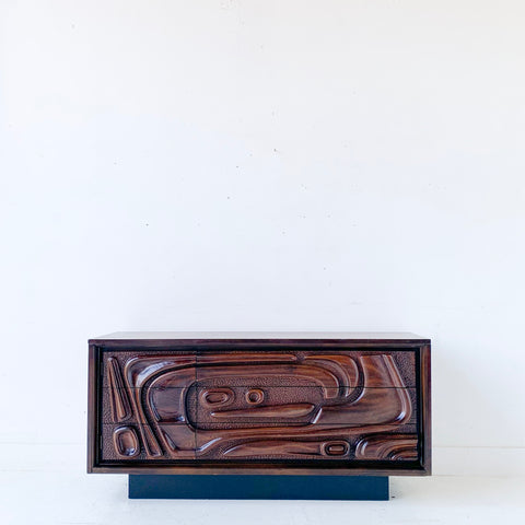 Mid Century Sculpted Front Sideboard by Pulaski #1