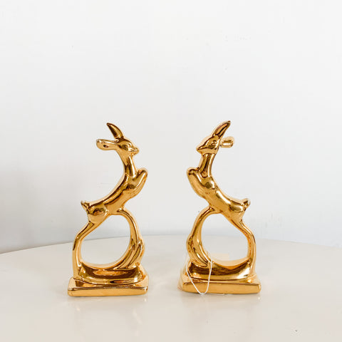 Ceramic Deer Pair