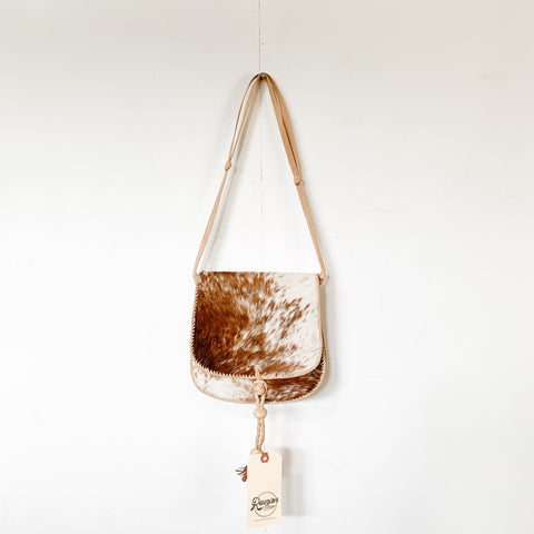 Calf Hair Saddle Bag