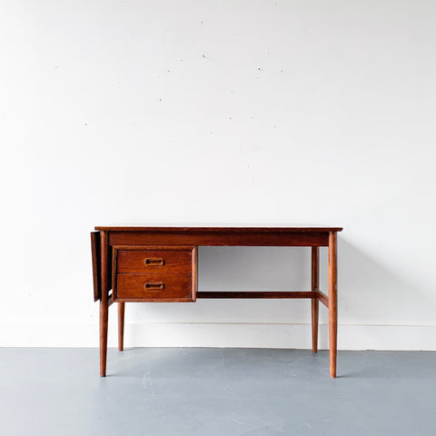 Mid Century Modern Teak Sliding Top Desk