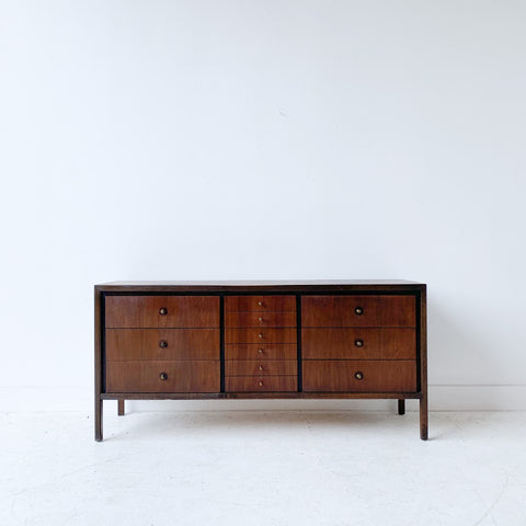 Mid Century Walnut Dresser with Solid Wood Top
