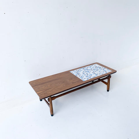 Mid Century Lane Coffee Table with New Tile