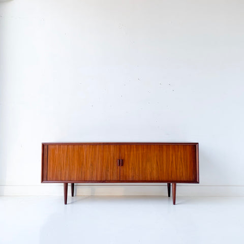 Mid Century Danish Walnut Credenza by Svend Aage Larsen for Faarup