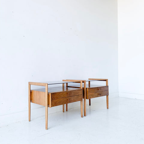 Pair of Mid Century Modern Barney Flagg for Drexel End Tables