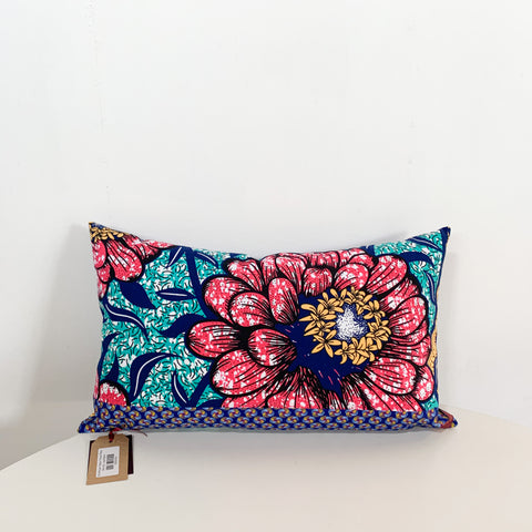 R4 African Fabric Throw Pillow