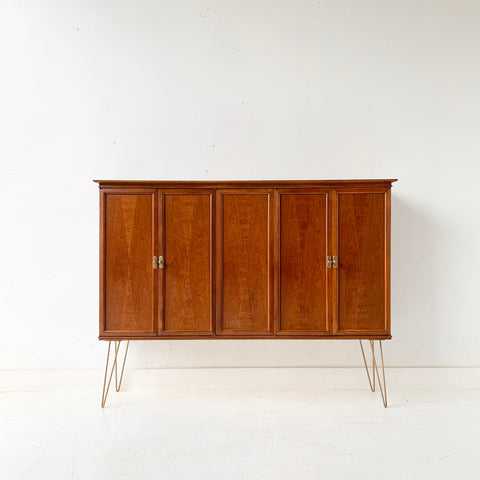 Mid Century Modern Mount Airy Curio Cabinet on Hairpin Legs