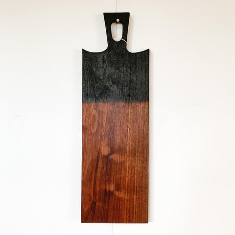Shou Sugi Ban + Walnut Long Bread Board By Sawyer Woodwork