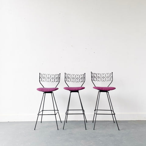 Set of 3 Arthur Umanoff Stools