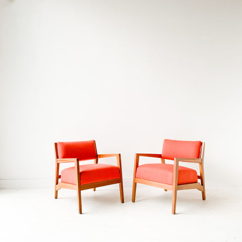 Pair of Orange Occasional Chairs