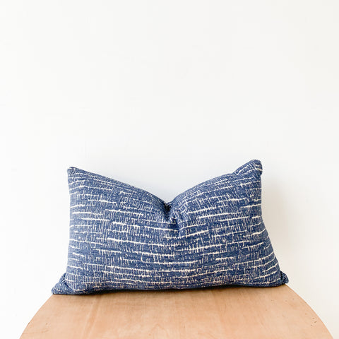 Blue/White Pattern Pillow