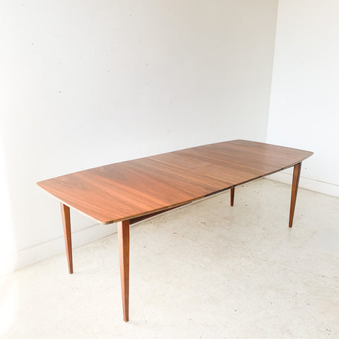 Mid Century Walnut Dining Table w/ 3 Leaves