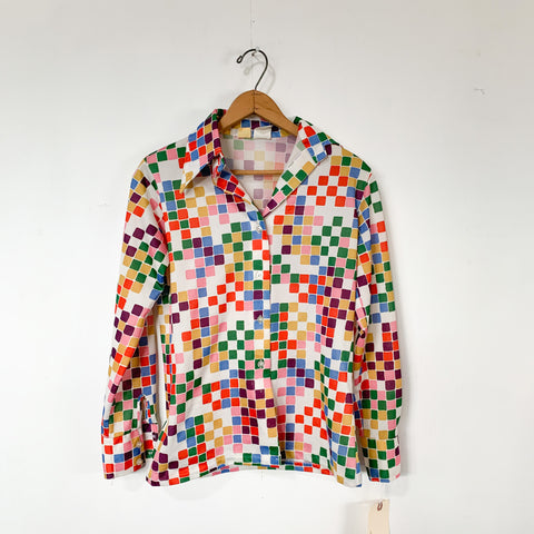 Rainbow Block Blouse - S