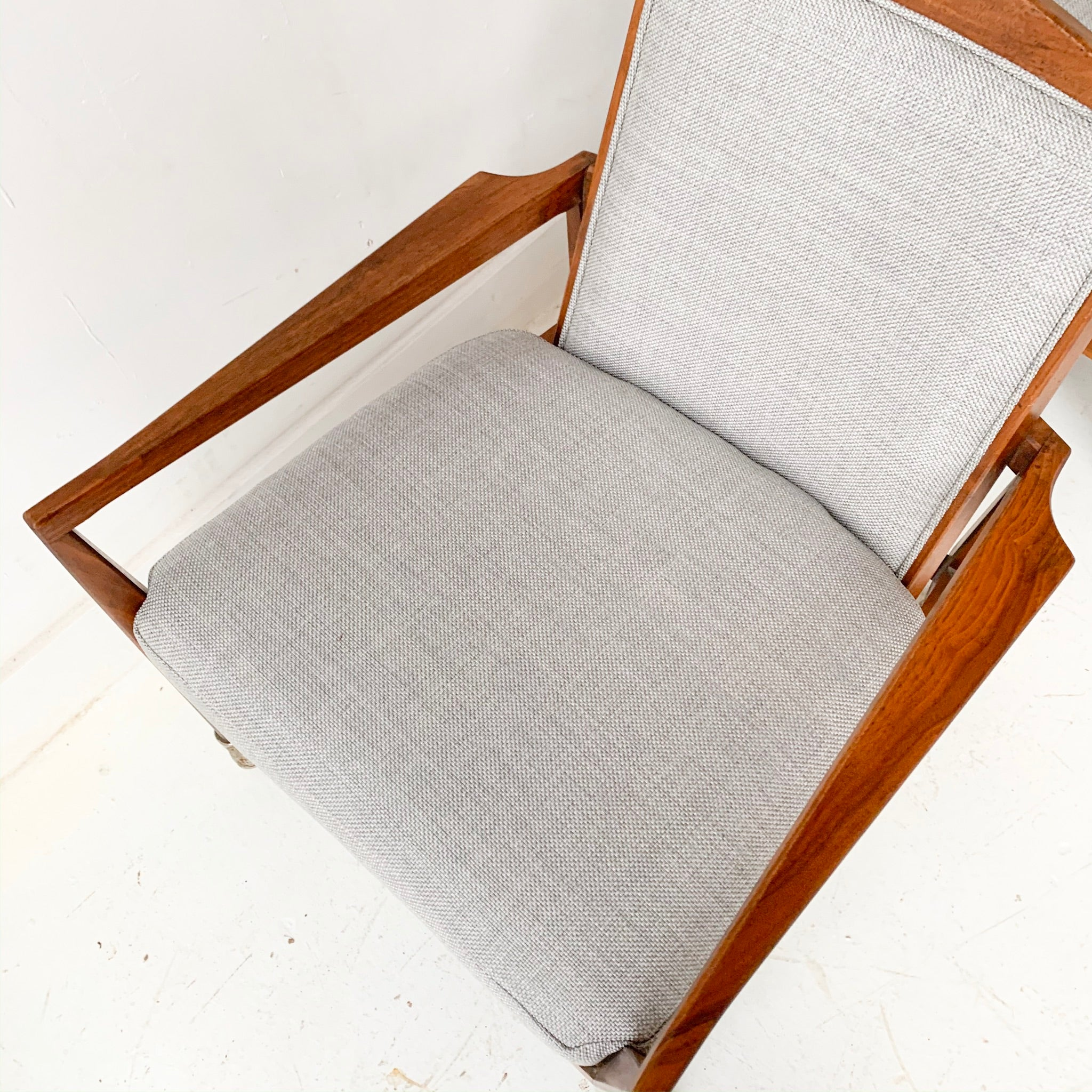 Mid Century Modern Foster McDavid Rolling Lounge Chair with New Upholstery