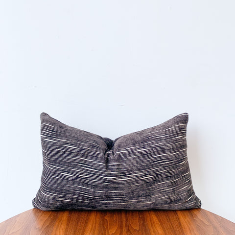Brown/White Lumbar Pillow