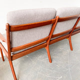 Mid Century Modern Danish Teak Sofa and Chair by Ole Wanscher