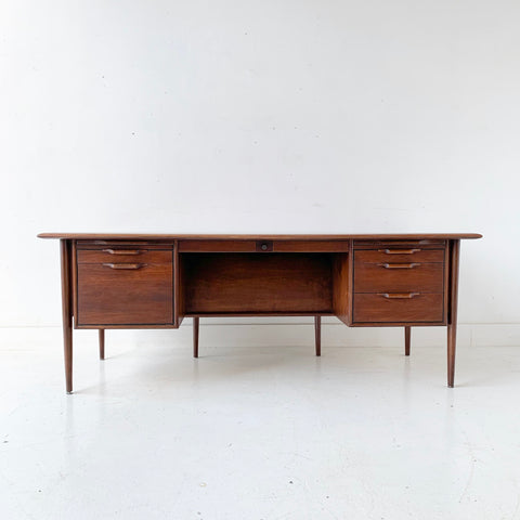 Mid Century Modern Walnut Executive Desk
