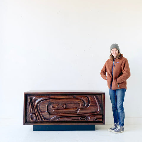 Mid Century Sculpted Sideboard by Pulaski #2